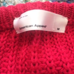 American Apparel Sweaters - American Apparel Made in USA red fisherman sweater